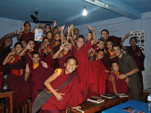 Teaching at Monastery