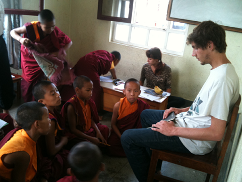 Teaching at Monastery in Nepal